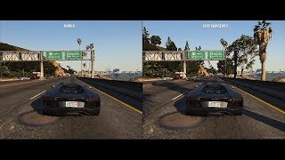 GTA 5 REMASTERED Side by Side Comparison (Map MOD)