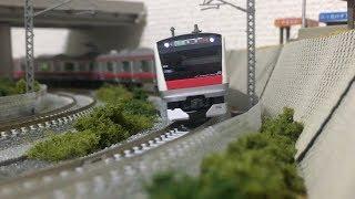 【60fps!!】Nゲージ KATO E233系5000番台 京葉線(6両編成) 走行動画