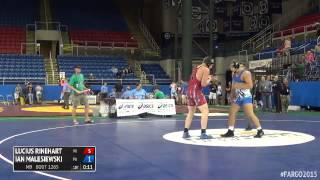 195 Champ. Round 3 - Ian Malesiewski (Pennsylvania) vs. Lucius Rinehart (Wisconsin)