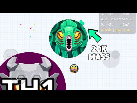 🥇 Agario CANNONBALL SKIN 7 5k Mass in rush mode | mobile gameplay