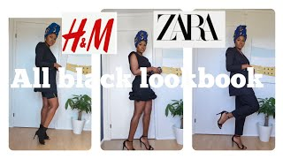 SUMMER 2020 JUNE#LOOKBOOK|ALL BLACK OUTFIT IDEAS 2020/#ZARAHAUL,#H&MHAUL,AQ/AQ, $ADIDAS, *#NEWIN*