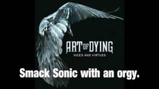 """Art Of Dying - """"Whole World's Crazy"""" Backwards with lyrics"""