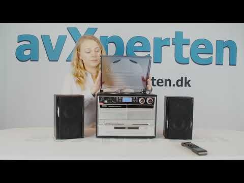 Musikcenter m/pladespiller (CD/DAB+/kassette) Denver MRD-165
