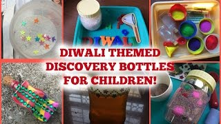 How To Make Diwali Themed Discovery Bottles / Sensory Bottles For Toddlers & Preschoolers