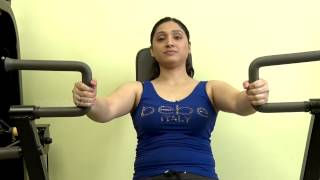 Workout for Chest using Seated Chest Press