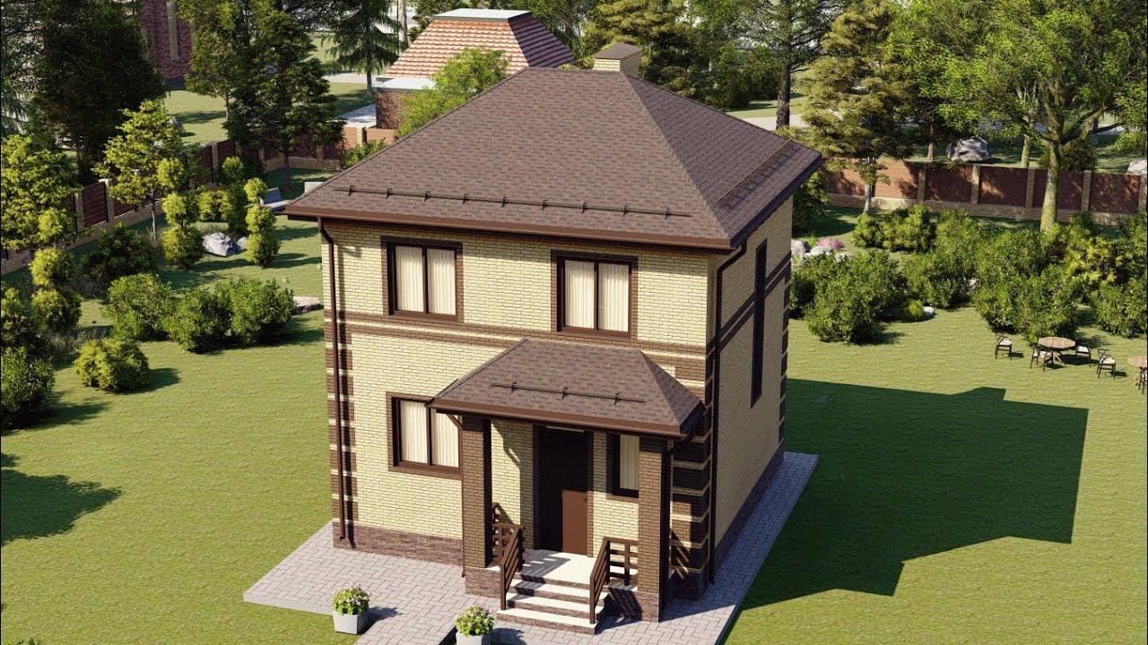 Проект компактного дома с удобной планировкой