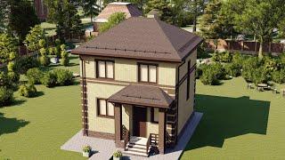 Проект дома 089-C, Площадь дома: 89 м2, Размер дома:  8x9,2 м