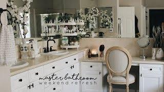 Organizing Our Master Bathroom   Simple Bathroom Update