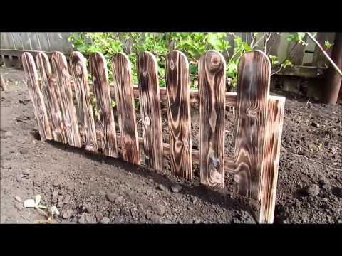 Деревянный Забор для сада на YouTube