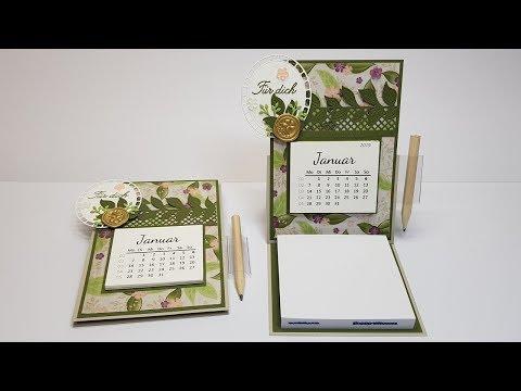 Anleitung: Aufstell-Tischkalender (mit Kalender-Datei zum Ausdrucken) │Stampin'Up!®