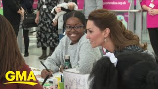 These Kids Got To Do Arts And Crafts With Duchess Kate | GMA Digital