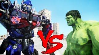 Download Video THE INCREDIBLE HULK VS OPTIMUS PRIME (Transformers) MP3 3GP MP4