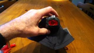 Making a red lens for flashlight; a red beam for night vision.