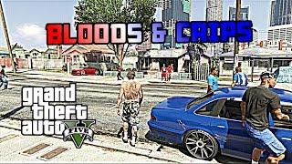 GTA 5   BLOODS VS CRIPS #1 [HD]