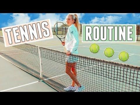 After School TENNIS ROUTINE! Tennis Practice Routine | Tennis Workout | Tennis Youtuber