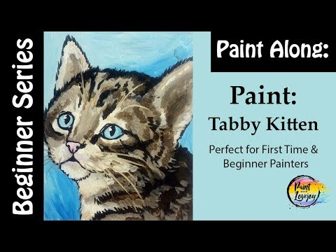 😼🎨How to Paint a Tabby Kitten: Step by step instruction perfect for beginner painters and kids