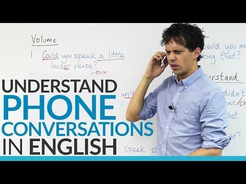 Conversation Skills - Understand PHONE conversations in English