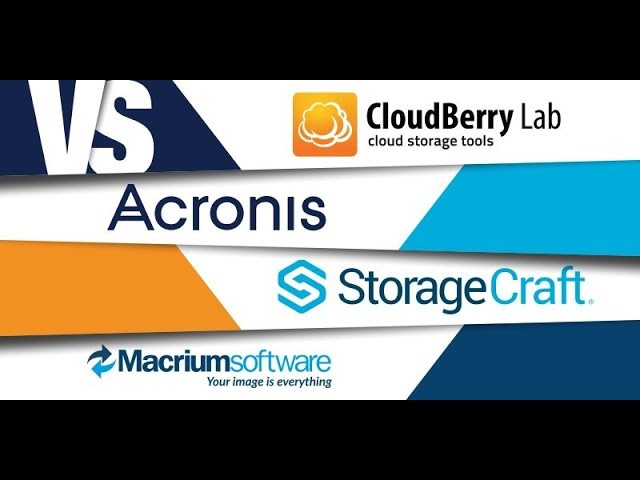 Small Business Backup: Cloudberry vs Acronis vs StorageCraft vs Macrium