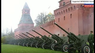 IMPRESSIVE: Russian Anthem with CANNONS at 2017 Victory Day Parade in Moscow