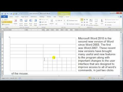 Microsoft Word 2010 formatting Tables – Table properties – Tutorial 20