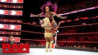 Sasha Banks vs. Mandy Rose: Raw April 9, 2018 - Video Youtube