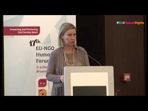 Extracts from Federica Mogherini's speech at Human Rights NGO Forum