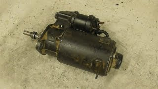 WILLYS ITM (M201) Testing starter, place new brush and cleaning