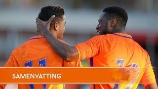 Justin Kluivert op dreef voor Oranje Onder 19
