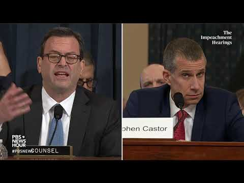 WATCH: Trump wouldn't have explicitly asked for a bribe, House counsel testifies