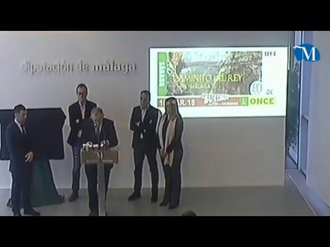 Presentación del cupón de la ONCE dedicado al Caminito del Rey