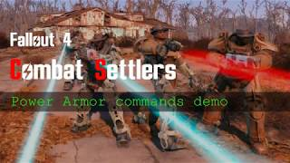 Settler power armor commands