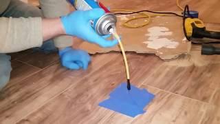 Laminate flooring repair to fix soft spot for uneven underlayment