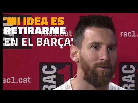 ENTREVISTA   Messi: 'Mi idea es terminar la carrera en el Barça'