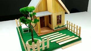 Cara Membuat Miniatur Rumah Dari Stik Es Krim Yang Bagus