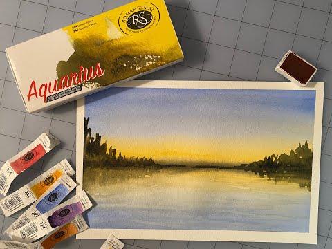 Set 36 màu nước Aquarius hộp gỗ phiên bản giới hạn