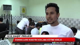 Öğrencilere robotik kodlama eğitimi verildi
