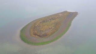 The tear drop Island in the Sea of Galilee האי בדרום הכינרת, The Island Of Dajjal