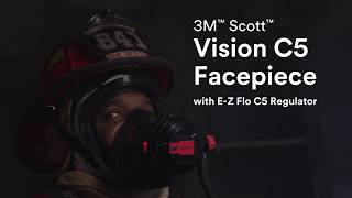 3M Scott Vision C5 Facepiece with E-Z Flo C5 Regulator - the new face of firefighting