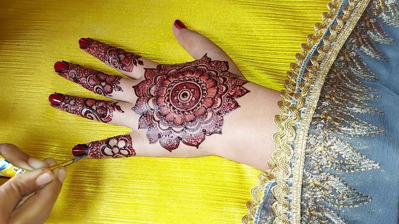 floral arabic mehndi design for back hand by ft mehndi designs