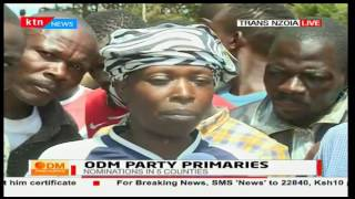ODM supporters in Trans Nzoia blame secretariat officials for the delayed nominations process