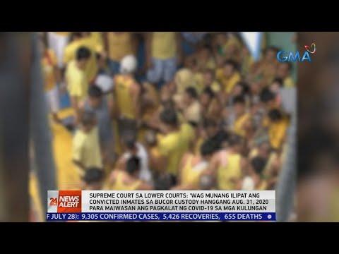 [GMA]  24 Oras News Alert: SC: 'Wag munang ilipat sa BuCor ang convicted inmates dahil sa banta ng COVID-19
