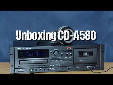 USB/CD/cassette tape deck Tascam CD-A580 ~ unboxing & short demo ~ Česky ᴴᴰ