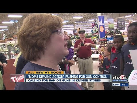 Moms take gun control fight to Kroger stores