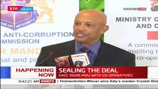 Happening now: EACC signs MOU with Co-operatives in a bid to fight corruption