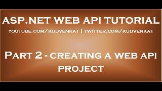 Creating a Web API Project