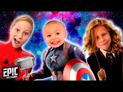 Avengers Kids Costume Runway Show with Disney and Marvel Superheroes and Epic Toy Channel Hero Kidz