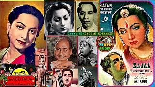 SURAIYA & RAFI Sahab~Film-KAJAL~{1948}~Taaron Bhari