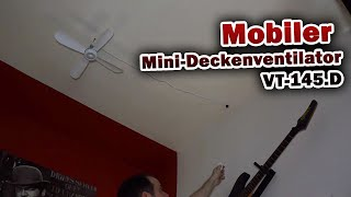 Mobiler Mini-Deckenventilator VT-145.D