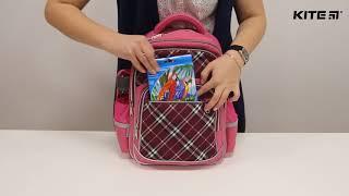 """Рюкзак школьный Kite Сollege line K18-735М-1 от компании Интернет-магазин """"Радуга"""" - школьные рюкзаки, канцтовары, творчество - видео"""