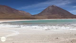 Abenteuer 100 Tage Südamerika: Traumhaft Laguna Verde in Bolivien